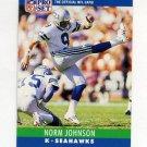 1990 Pro Set Football #302 Norm Johnson - Seattle Seahawks