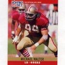 1990 Pro Set Football #298 Michael Walter - San Francisco 49ers