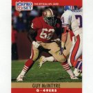 1990 Pro Set Football #292 Guy McIntyre - San Francisco 49ers