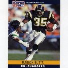 1990 Pro Set Football #276 Marion Butts - San Diego Chargers