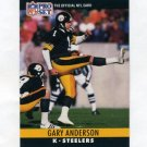 1990 Pro Set Football #266 Gary Anderson - Pittsburgh Steelers