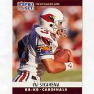 1990 Pro Set Football #262 Vai Sikahema - Phoenix Cardinals