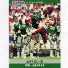 1990 Pro Set Football #249 Mike Quick - Philadelphia Eagles
