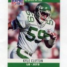 1990 Pro Set Football #234 Kyle Clifton - New York Jets