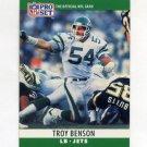 1990 Pro Set Football #233 Troy Benson - New York Jets