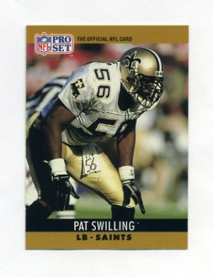 1990 Pro Set Football #218 Pat Swilling - New Orleans Saints