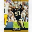 1990 Pro Set Football #217 Sam Mills - New Orleans Saints
