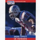 1990 Pro Set Football #208 Andre Tippett - New England Patriots