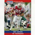 1990 Pro Set Football #206 Eric Sievers RC - New England Patriots