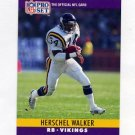 1990 Pro Set Football #197 Herschel Walker - Minnesota Vikings