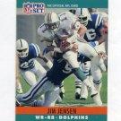 1990 Pro Set Football #180 Jim C. Jensen - Miami Dolphins