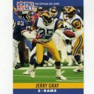 1990 Pro Set Football #166 Jerry Gray - Los Angeles Rams