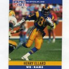 1990 Pro Set Football #164 Henry Ellard - Los Angeles Rams