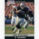 1990 Pro Set Football #160 Steve Wisniewski - Los Angeles Raiders