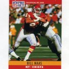 1990 Pro Set Football #145 Bill Maas - Kansas City Chiefs