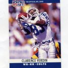 1990 Pro Set Football #137 Clarence Verdin - Indianapolis Colts