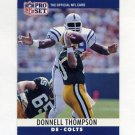 1990 Pro Set Football #136 Donnell Thompson - Indianapolis Colts