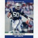 1990 Pro Set Football #130 Duane Bickett - Indianapolis Colts