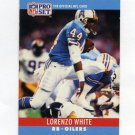 1990 Pro Set Football #125 Lorenzo White - Houston Oilers