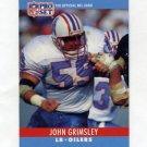 1990 Pro Set Football #120 John Grimsley - Houston Oilers
