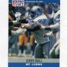 1990 Pro Set Football #096 Jerry Ball - Detroit Lions