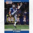 1990 Pro Set Football #095 Jim Arnold - Detroit Lions