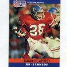 1990 Pro Set Football #091 Bobby Humphrey - Denver Broncos
