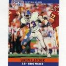 1990 Pro Set Football #089 Simon Fletcher - Denver Broncos