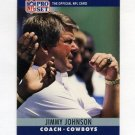 1990 Pro Set Football #085 Jimmy Johnson CO - Dallas Cowboys