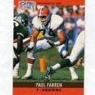 1990 Pro Set Football #069 Paul Farren - Cleveland Browns