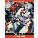 1990 Pro Set Football #067 Carl Zander - Cincinnati Bengals
