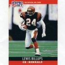 1990 Pro Set Football #060 Lewis Billups - Cincinnati Bengals