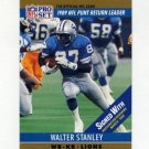 1990 Pro Set Football #015B Walter Stanley - Detroit Lions