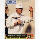 1991 Pro Set Football WLAF Inserts #30 Mike Riley CO - San Antonio Riders