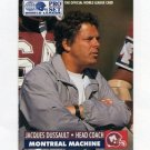 1991 Pro Set Football WLAF Inserts #15 Jacques Dussault CO - Montreal Machine