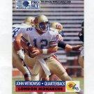 1991 Pro Set Football WLAF Inserts #14 John Witkowski - London Monarchs