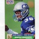 1991 Pro Set Football #803 David Daniels RC - Seattle Seahawks