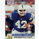 1991 Pro Set Football #798 Dave McCloughan - Indianapolis Colts