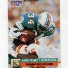 1991 Pro Set Football #789 Aaron Craver RC - Miami Dolphins