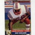 1991 Pro Set Football #785 Calvin Stephens RC - New England Patriots