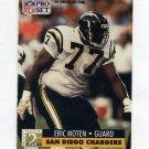 1991 Pro Set Football #776 Eric Moten RC - San Diego Chargers