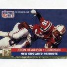 1991 Pro Set Football #770 Jerome Henderson RC - New England Patriots