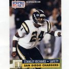 1991 Pro Set Football #738 Stanley Richard RC - San Diego Chargers