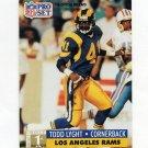 1991 Pro Set Football #734 Todd Lyght RC - Los Angeles Rams
