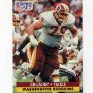 1991 Pro Set Football #679 Jim Lachey - Washington Redskins