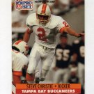 1991 Pro Set Football #668 Steve Christie - Tampa Bay Buccaneers