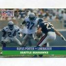 1991 Pro Set Football #665 Rufus Porter - Seattle Seahawks