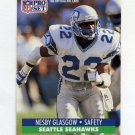 1991 Pro Set Football #660 Nesby Glasgow - Seattle Seahawks