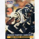 1991 Pro Set Football #647 Broderick Thompson - San Diego Chargers