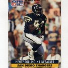 1991 Pro Set Football #643 Henry Rolling RC - San Diego Chargers